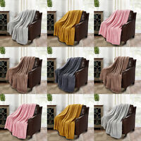 Double Soft Warm Fleece Cuddly Teddy Throw Sofa Bed Camping Blanket Fine Quality