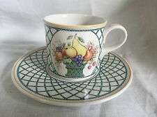 Villeroy & Boch 1748 Basket Flat Cup And Saucer