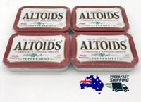 4 X ALTOIDS PEPPERMINT CURIOUSLY STRONG MINTS 50g TIN USA CANDY