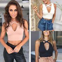 New Fashion Women Bustier Bra Vest Crop Top Bralette Sleeveless Blouse Tank Tops