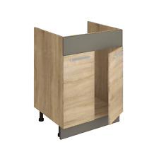 Spülschrank ALINA 60 cm Küchenschrank Einbauküche Unterschrank Sonoma Eiche NEU