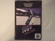 1080 Snowboard-Nintendo n64 Manuale Di Istruzioni Solo