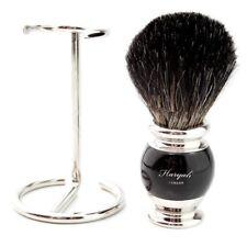 Men Shaving Black Badger Hair Shaving Brush + Free Brush Holder