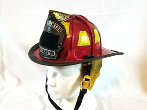 Cairns MSA Fire Department Helmet 880 Tradition Eagle Topper Bloomington Indiana