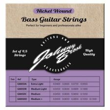 Nickel Wound Bass Guitar Strings for 5 String Bass Guitars Set of 5