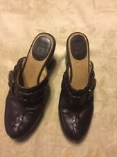 Frye Leather Clogs Heels Shoes Mules Boots Sz 6.5 Style 70570 Candy Lace