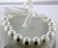BRAND NEW GIRLS WHITE BEAD STRAND WITH A BOW