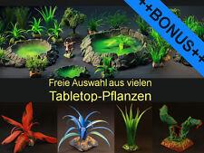 Freie Auswahl: 12 aus 134 Pflanzen mit Base PREMIUM Tabletop zB Warhammer +BONUS