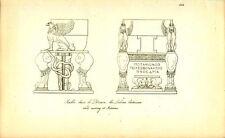 Sedia di marmo di potamos GRECO ROMANA INCISIONE