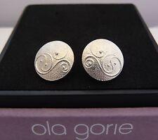 Scottish Ola Gorie Jewellery Silver Celtic Secret Earrings