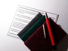 3 X REFINISHING PADS & FIBREGLASS PEN + REFILL STAINLESS WATCH SCRATCH REMOVAL*