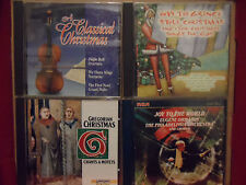 Lot of 4 Christmas CD's GREGORIAN Ormandy HOW THE GRINCH STOLE Classical