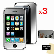 3 Pack Of MIRROR Reflective Screen Protector Guards for Apple iPhone 3G 3GS