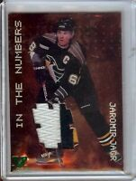 Jaromir Jagr 1998-99 BAP Final Vault 99-00 In the Numbers 3 Col Patch  #N-12 1/1
