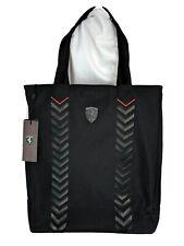 NEW Scuderia Ferrari LS Zipper Shopper Tote Bag Handbag Black 42197 NWT