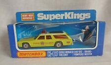 Matchbox SuperKings K-67 Dodge Monaco Fire Chief Lemon Yellow