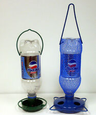 Gadjit Soda Bottle Bird FeedingStarter Kits - 2 feeders 2 waterers Pack of 2