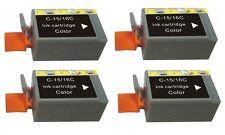 4 Colore Inchiostro Compatibili Stampante Cartucce Per Canon Pixma ip90 i70 80 bci-16c