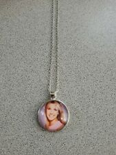 BRITNEY SPEARS UNISEX SILVER PENDANT NECKLACE ADULT / KID NEW WITH ORGANZA BAG