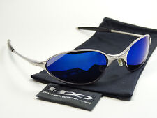 Oakley C Wire Silver Ice Blue Sonnenbrille Tincan Square Wire Whisker Tailhook A