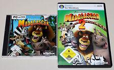 2 PC Jeux Bundle-MADAGASCAR 1 & 2-jeu au Film-pour enfants