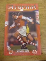 10/01/1996 Arsenal v Newcastle United [Football League Cup] . Footy Progs/Bobfra