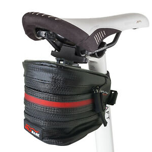 Waterproof Bike Saddle Bag USB Rechargeable LED Bicycle Cycling Seat Portable