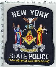 New York State Police Free Masons Shoulder Patch