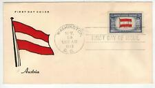 Patriotic Fdc Ww2 Overrun Countries Occupied Nations 919-2 Austria Flag