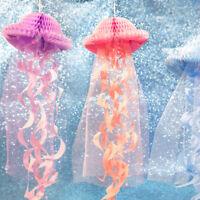Hanging Jellyfish Decorations DIY Party Supplies Mermaid Party Paper OrnamenATA