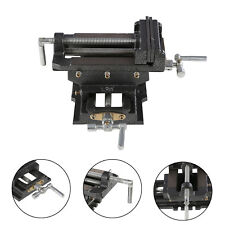 "New 5"" Cross Drill Press Vise X-Y Clamp Machine Slide Metal Milling 2 Way Hd"