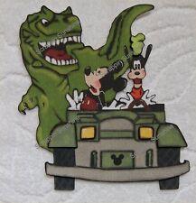 DISNEY -  DinoLand - Dinosaur Ride Premade Scrapbook Page Paper Piecing SSFFDeb
