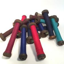 Textile Bobbins Spools Spindles Wooden Threaded Imported 16 Quills fm India