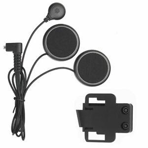 Motorcycle Headphone Helmet Speaker Bluetooth Intercom Interphone Headset Black
