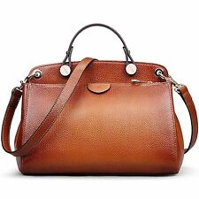 AB Earth Women Genuine Leather Handbag Top handle Tote Cross Body Shoulder Bag