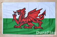 More details for wales duraflag 150cm x 90cm 5x3 feet high quality flag rope & toggle welsh