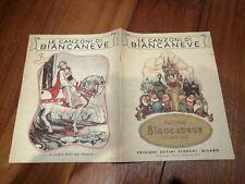 Spartito a Libro LE CANZONI DI BIANCANEVE 1939