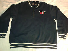 POLO Ralph Lauren Jean Co.1/2 Zip Sweatshirt Men's Size L Blue Red Cotton Blend