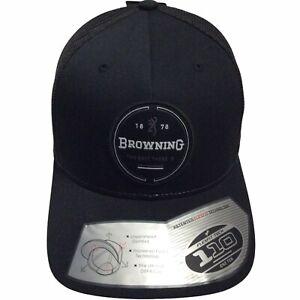 Browning Performance Hunting Black Crescent Trucker's Adjustable Cap Hat $28