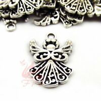 Angel Charms 20mm Antiqued Silver Plated Pendants SC0106786 - 10/20/40PCs