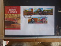 2004 AUSTRALIA 150th RAILWAYS SET 5 STAMPS FDC FIRST DAY COVER