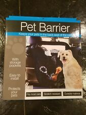 Dukes Pet Products Pet Barrier With Pockets Car Back Seat