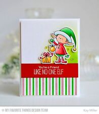 Clear acrylic stamps & thin metal dies SANTA'S ELVES, USA made, Christmas