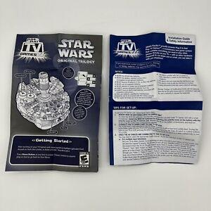STAR WARS Millennium Falcon JAKKS PACIFIC Plug N Play TV Video Game Manual Only