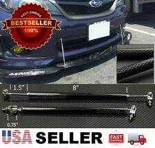 "Carbon 8""-11"" Adjustable Rod Stabilizer For Dodge Bumper Lip Diffuser splitter"