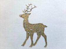 Stickerbogen, Weihnachten, Christmas, Rentiere, Glitzer, Gold, Nr. 7076