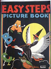 "Darling Vintage Children's ABC Booklet Titled ""Easy Steps Picture Book"" *"