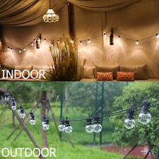 G50 LED String Lights 13M/42.9ft 10Blubs Fairy Lights UK Plug IP65 Wedding Xmas