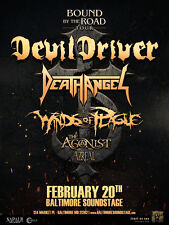 "DEVIL DRIVER /DEATH ANGEL ""BOUND BY THE ROAD TOUR"" 2017 BALTIMORE CONCERT POSTER"