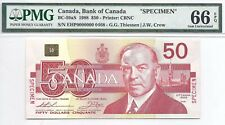 1988 Bird Series Specimen $50 Note, EHP0000000, BC-59aS, PMG Gem Unc-66, EPQ!